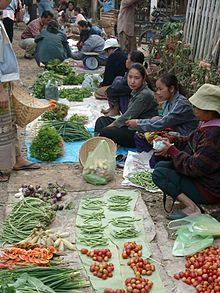 Luang Prabang market. courtesy Wikipedia.